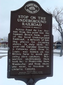 Milwaukee Underground Railroad Marker Site