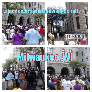 Collage of The Milwaukee Version of the Trayvon Martin Rally